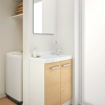 【完成イメージ】ちいさな洗面台をトイレの横に新設します。