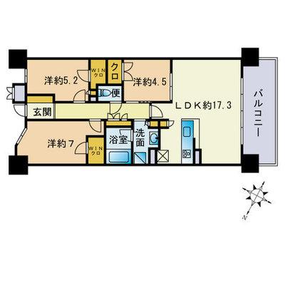 ザ・パークハウス赤坂タワーレジデンス の間取り