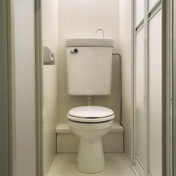 トイレは通常便座です。きれいにされています。