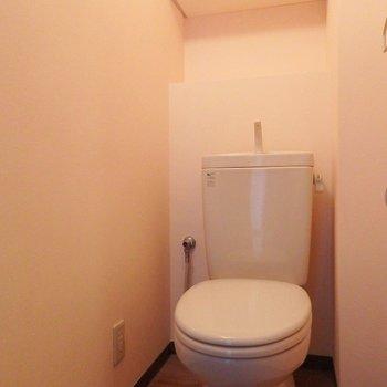 トイレは、ウォシュレットついていません!