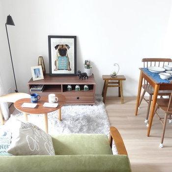 ソファもちゃんと置ける広さです。(※写真は3階の同間取り別部屋のものです)