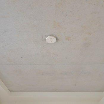 天井はコンクリート打ちっぱなし。※写真は403号室のもの