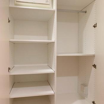 廊下途中にクローゼットがあります。※写真は3階の同間取り別部屋のものです
