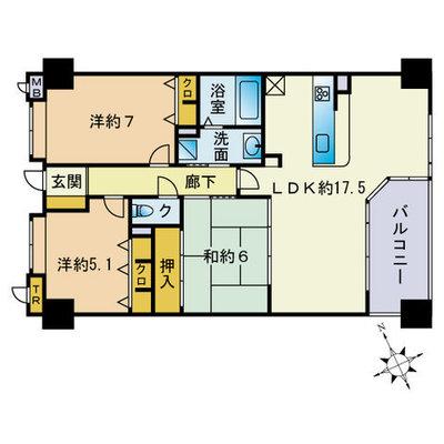 コアマンションネクステージ箱崎宮前 の間取り