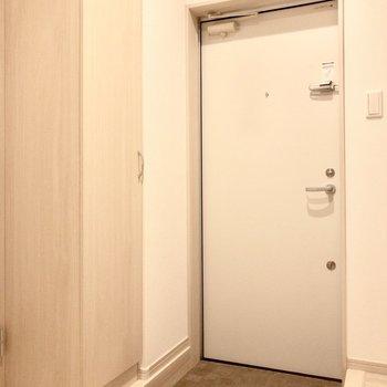 キッチンスペースに玄関があります。