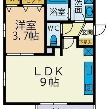 居室も広々、機能も充実。