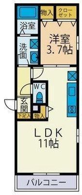 仮称)海老名国分南3丁目新築アパート の間取り