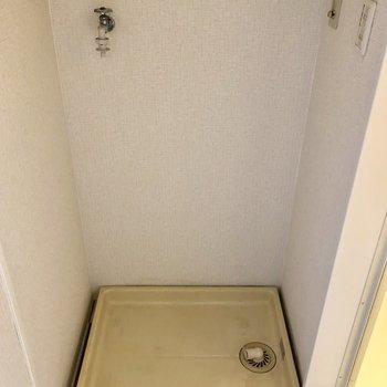 洗濯機は脱衣所にあるので、さくっと脱いで入れられます!