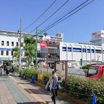 みずほ台駅前はお店も多く、暮らしの買い物に便利です。