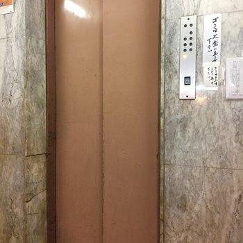 レトロなエレベーター。