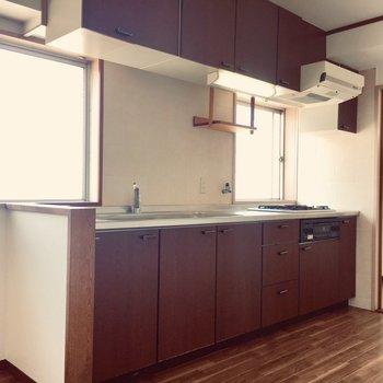 広々としたキッチン周り。