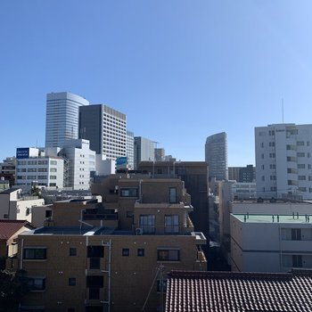 5階建ての最上階からの眺めは気持ち良い!