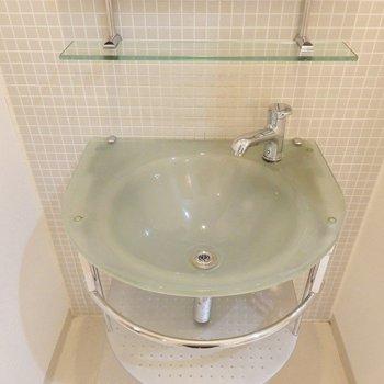 洗面ボール、おしゃれ~~!(※写真は5階の同間取り別部屋のものです)