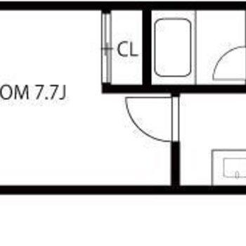 1人暮らしにちょうどいい7.7帖の1Kのお部屋です。