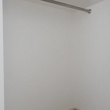 入り口横に大きなWIC(※写真は5階の同間取り別部屋のものです)
