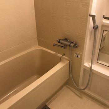 浴槽も大きめ みんなで仲良く入浴