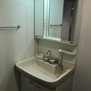 洗面台も大きめです みんなで歯磨き