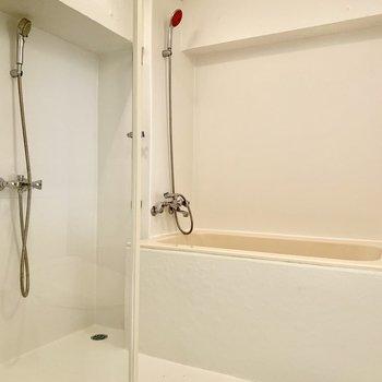 何故かシャワーが2つもあるんですよ!