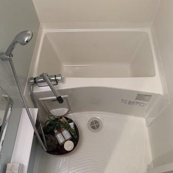 こんなきれいなお風呂できっと疲れがとれますね。※写真は2階の同間取り別部屋のものです