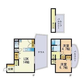 2〜3人家族で住みたい3階建てのメゾネット。