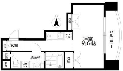 Studio Apartment KENの間取り