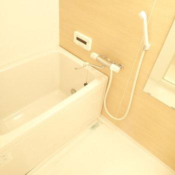 木調の壁がgood!毎日シャワーが楽しみ。