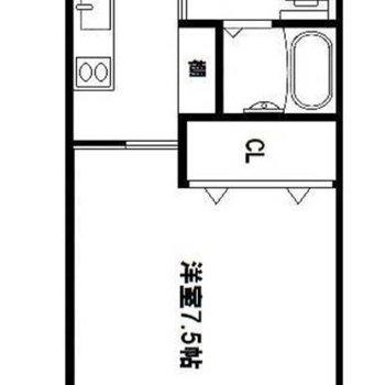 ペットと一緒に暮らせる1Kのお部屋です。