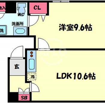 1LDKのお部屋、