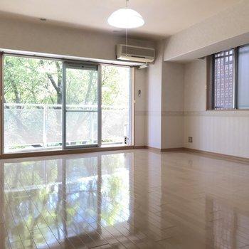 洋室だけでもこんなに広々としています。贅沢空間です。