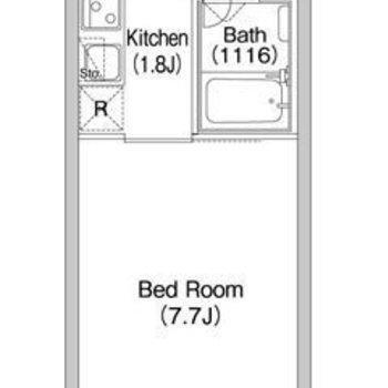お部屋は北東向きです。