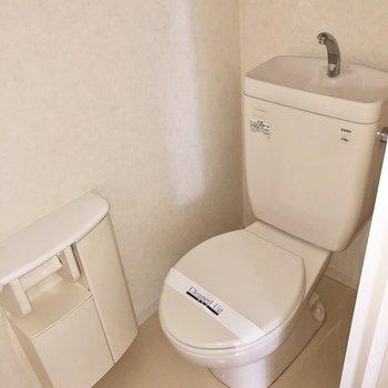 清潔感のあるトイレです※写真はフラッシュを使用して撮影しています