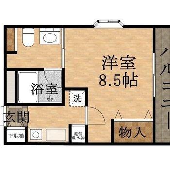 お部屋もまずまず広いです。