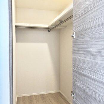 【洋室】ウォークインクローゼット…!ここをお洋服でいっぱいにしたい!※写真は2階の同間取り別部屋のものです