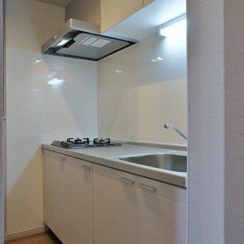 キッチンはコンパクトに隠れてました。※写真は同タイプの別部屋