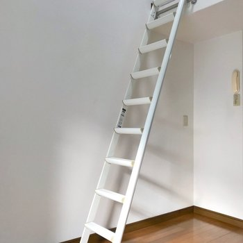 はしごをのぼってロフトへ。