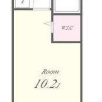 WICがある1Kのお部屋。