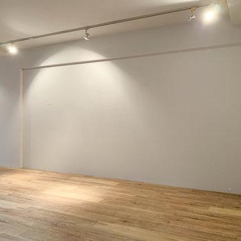 【B1洋室】こちらもサイドは白い壁。