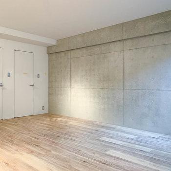 【B1洋室】扉は、右が収納。左がサニタリーです。