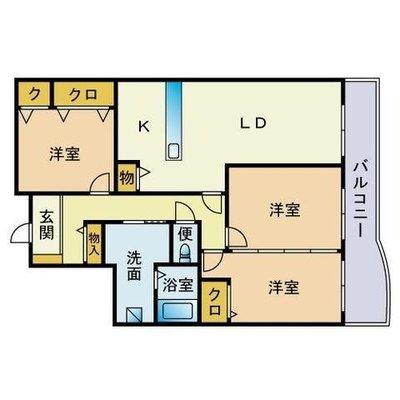 西福岡マリナタウンイーストコート1号棟 の間取り