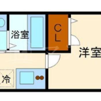 1人暮らしにピッタリ1Kのお部屋。