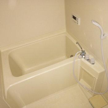 お風呂、コンパクトですが、十分な広さです。