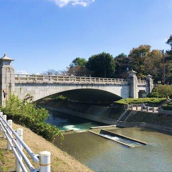 【おまけ】浅川という多摩川の支流も流れています。河川敷でBBQを楽しむ人の姿も。