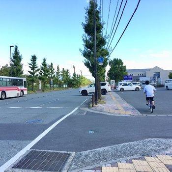 バスも通っているし、コンビニも徒歩範囲です。