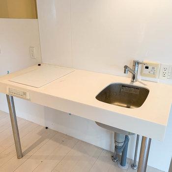 二口IHのキッチンです。※写真はクリーニング前のものです。