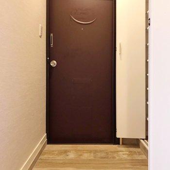 【北側】玄関周りはゆったりと(※写真は清掃前のものです)