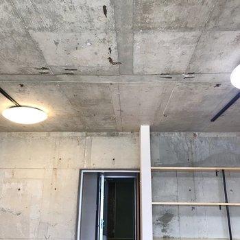【北側】天井にはライティングレール(※写真は清掃前のものです)