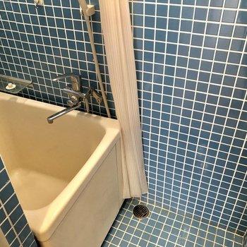シャワーカーテンで仕切れます。
