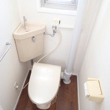クラシックな見た目のトイレでした。