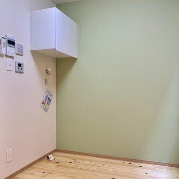 お風呂の折戸が左に見えますね。