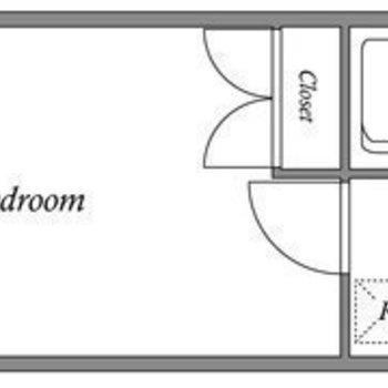 シンプルな1Kのお部屋です